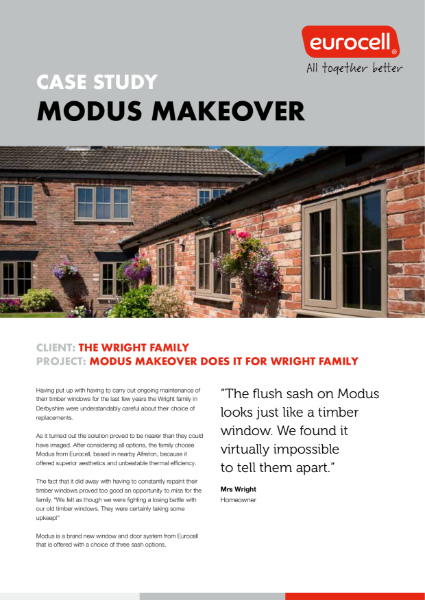 The Right Family Modus Makeover Case Study