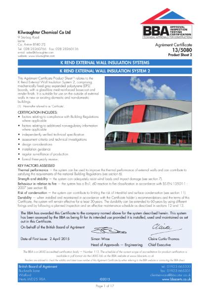13/5080_2 K Rend External Wall Insulation System 2