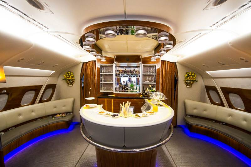 Onyx bar tops for Emirates Airline Airbus A380
