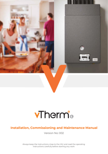 vTherm°e (Electronic) Installation Commissioning and Maintenance Manual