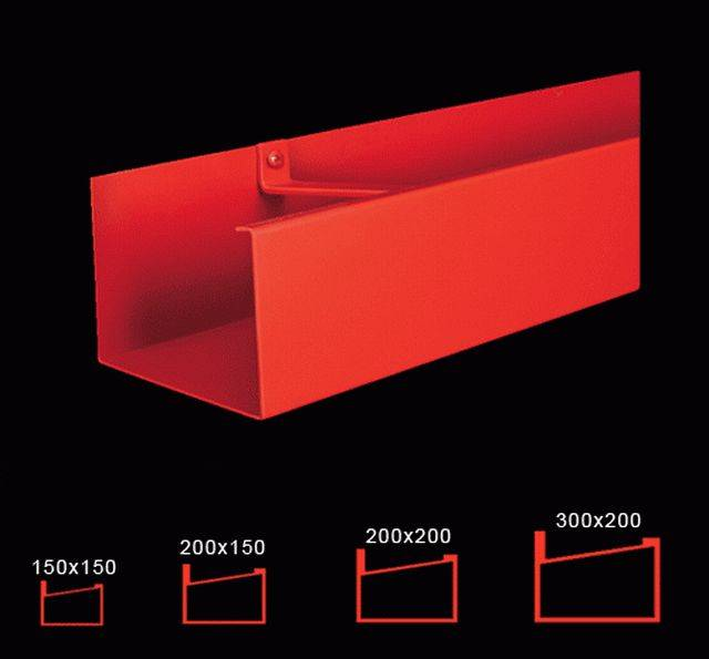 125 x 100 mm box gutter