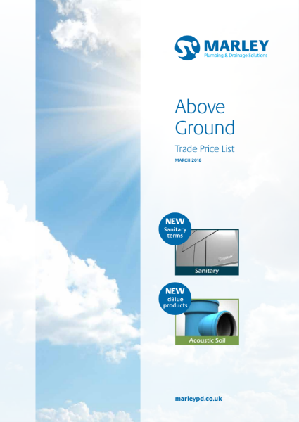 Above Ground Trade Price List March 2018