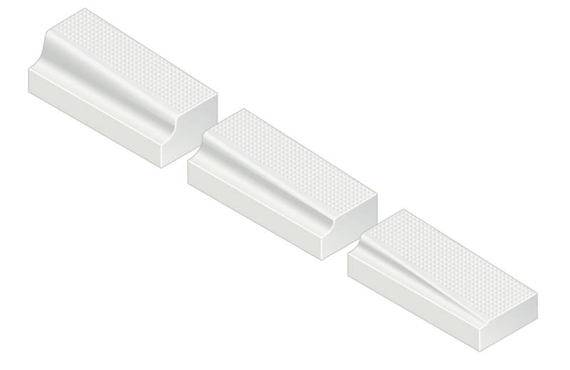 Kassel® Ramp Set No. 1 Kerb - 180 mm left hand