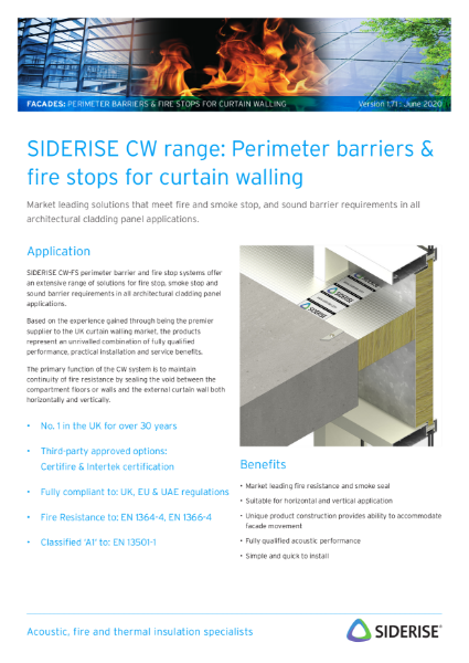Cavity fire barriers for curtain walls v1.6