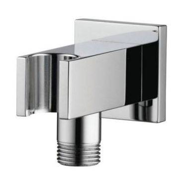 Options Square wall outlet with combined shower holder