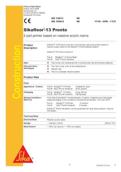 Sikafloor 13 Pronto