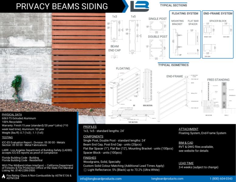 Longboard Privacy Beams