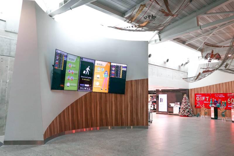 Larnaca International Airport: Creating a stunning design feature with Fire Retardant material