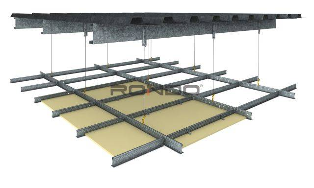 DUO® Exposed Grid Ceiling System