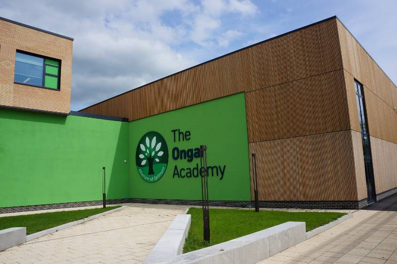 MicroShades Brunnea treated Redwood Timber Cladding Case Study - NORclad - The Ongar Academy