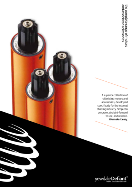 YewdaleDefiant® electric motors for blind systems