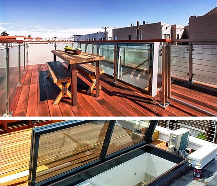 Glazed Roof Hatch - San Francisco