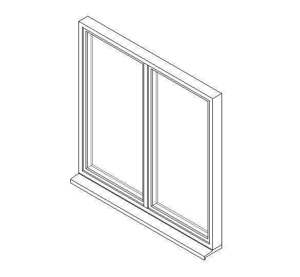Double Window System with a Side Hung Opening Light and Fixed Light