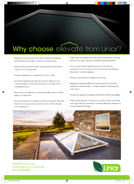 Elevate lantern roof by Liniar