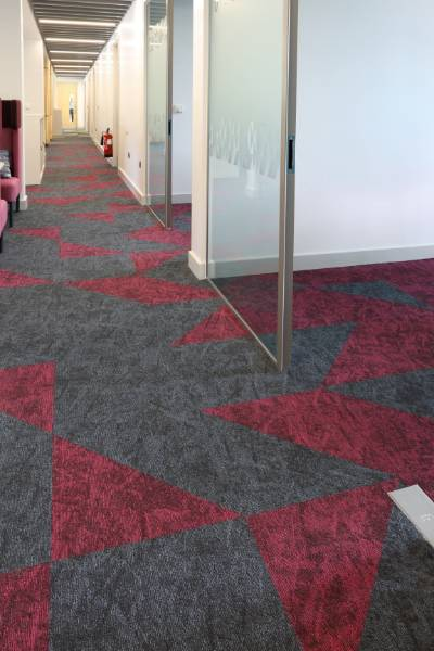 osaka carpet tiles fitted at the Wolfson Centre in Bradford Hospital