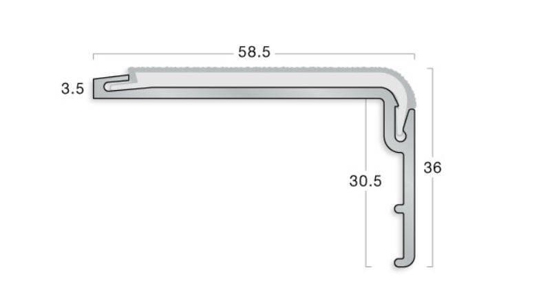 PVC-U Hardnose XT Stair Edging