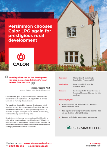 Persimmon Homes Case Study