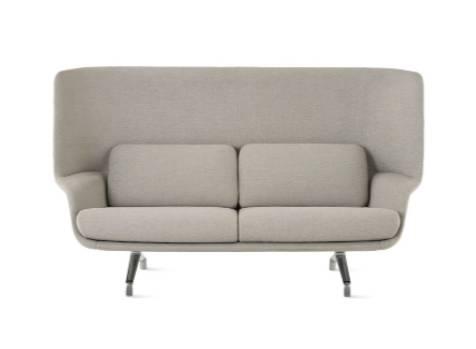 Striad Sofa – High Back – Two Seat – 4-Leg Base