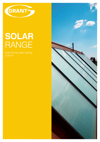 Grant Solar Thermal Range brochure