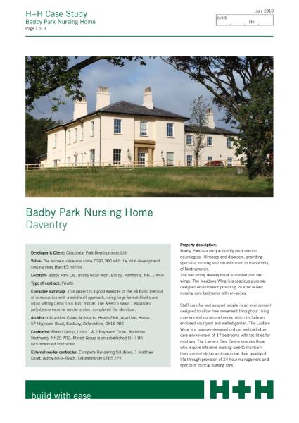 Case Study - Badby Park Nursing Home