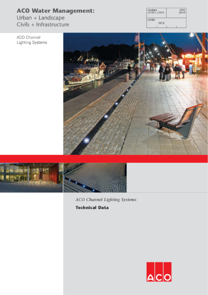 ACO Channel lighting system brochure