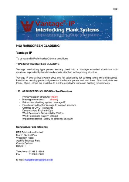 BTS Fabrications Interlocking Plank Rainscreen System