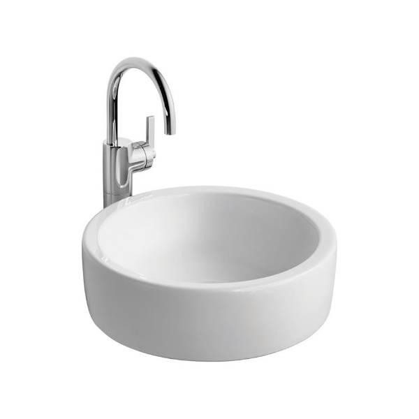 White Round 40 cm Vessel Washbasin