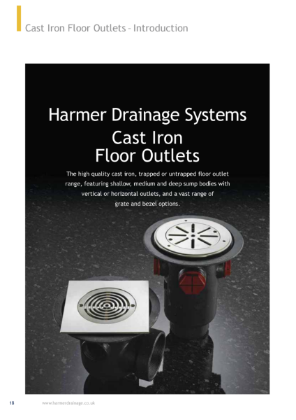 Harmer Cast Iron Floor Drains