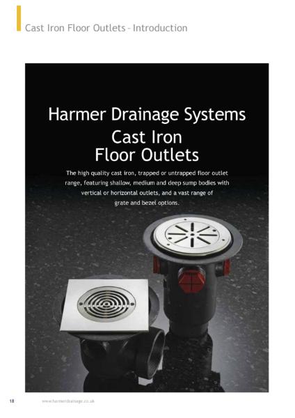 Harmer Cast Iron Floor Drains