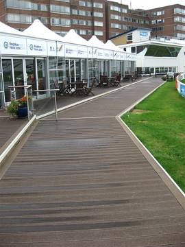 Cricket Club Bowled Over By Twinson Decking From Deeplas