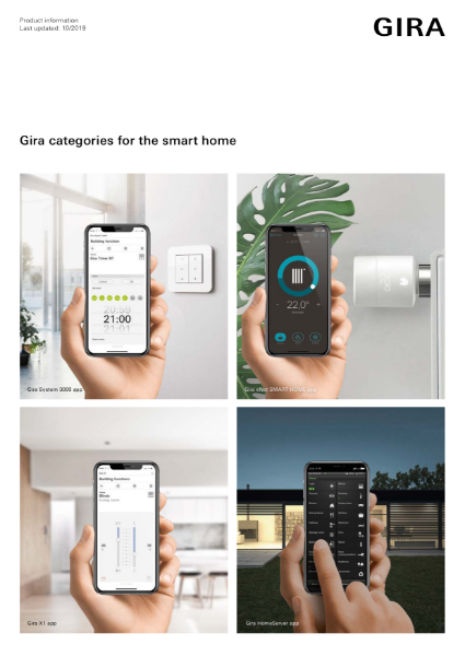 Gira Smart Home Categories