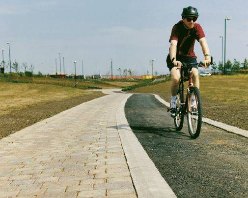 Cycleway Demarcation Paving