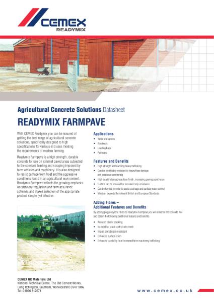 Farmpave - Agricultural Concrete