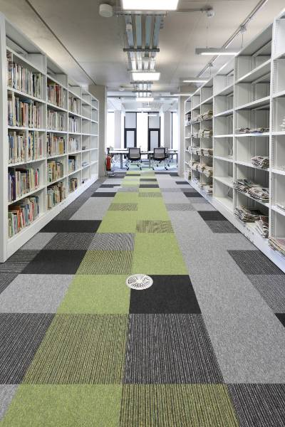 burmatex carpet tiles at New Birmingham University Library