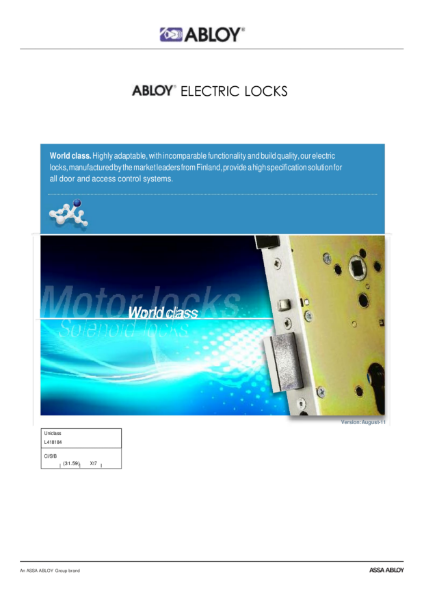 Abloy Electric Lock