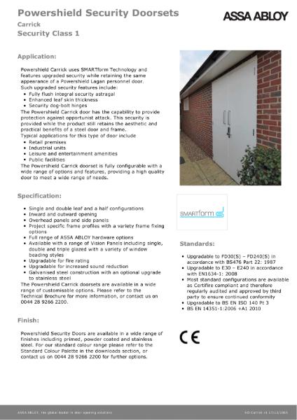 Class 1 - Powershield Security Doorsets