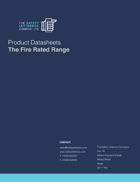 The Fire Rated Mailbox / Postbox Brochure featuring fire safety solutions from The Safety Letterbox Company