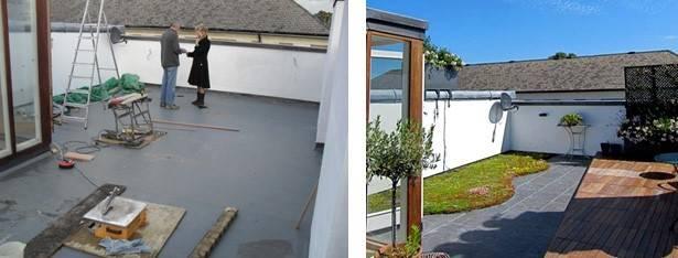 Decking Pedestals & Green Roof System - Kensington
