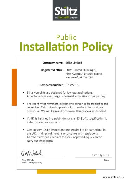 Public Installation Policy