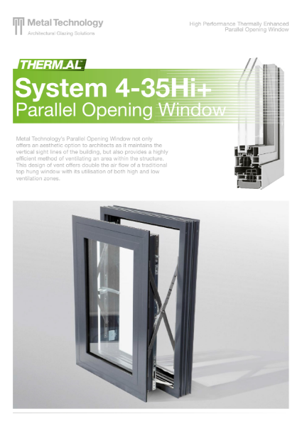 Aluminium Parallel Opening Vent Window