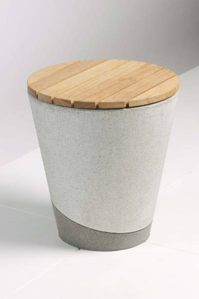 Coda Concrete And Timber Stool