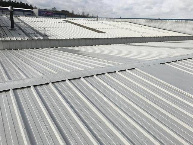 Metal roof coating & liquid gutter lining Derbyshire