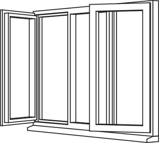 Traditional 2500 Casement - C16 Opener/Fixed/Opener