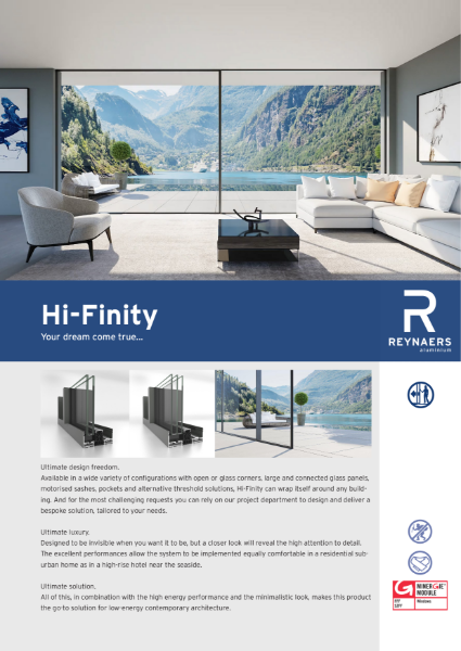 Aluminium Sliding Door - Hi-Finity