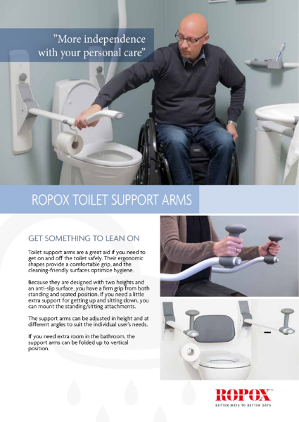 Ropox Toilet Support Arms