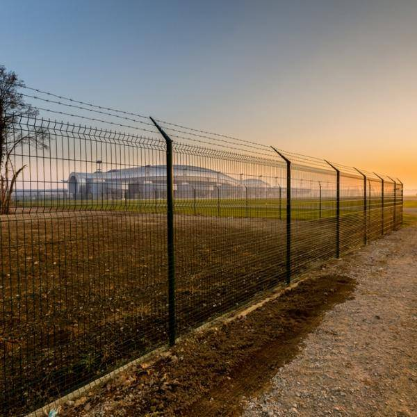 Nylofor 3D PRO + Nylofor-Twilfix Posts With Fixators - Metal mesh fence panel