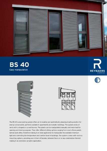 Aluminium Solar Shading System - BS 40