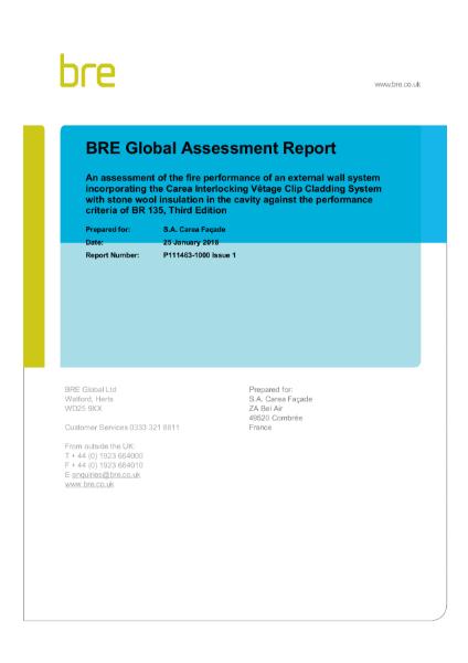 BRE Global Assessment Report