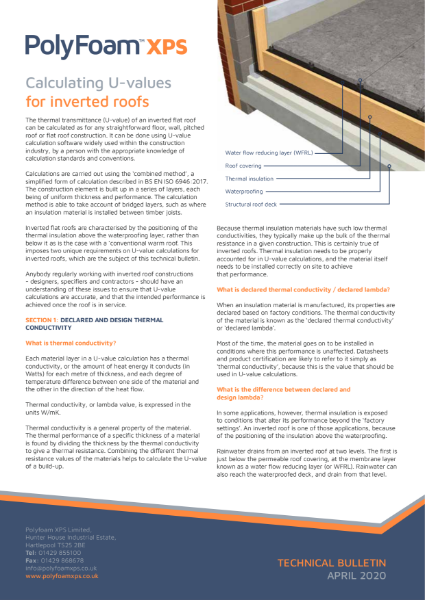 Polyfoam Inverted Roof Technical Bulletin