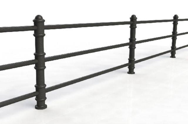 ASF Blenheim 3 Rail Cast Iron Post and Rail System